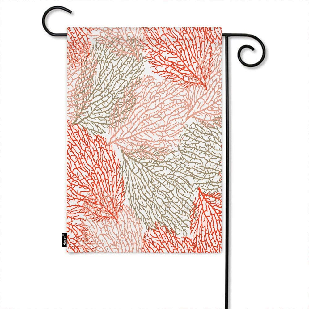 RMBZBR Sea Life Theme Garden Flag 12x18 Inch Ocean Outdoor Coral Bright Cheerful Summer Pattern Nature Summer Seasonal Garden Flag Outdoor Decorative Double-Sided Cotton Linen
