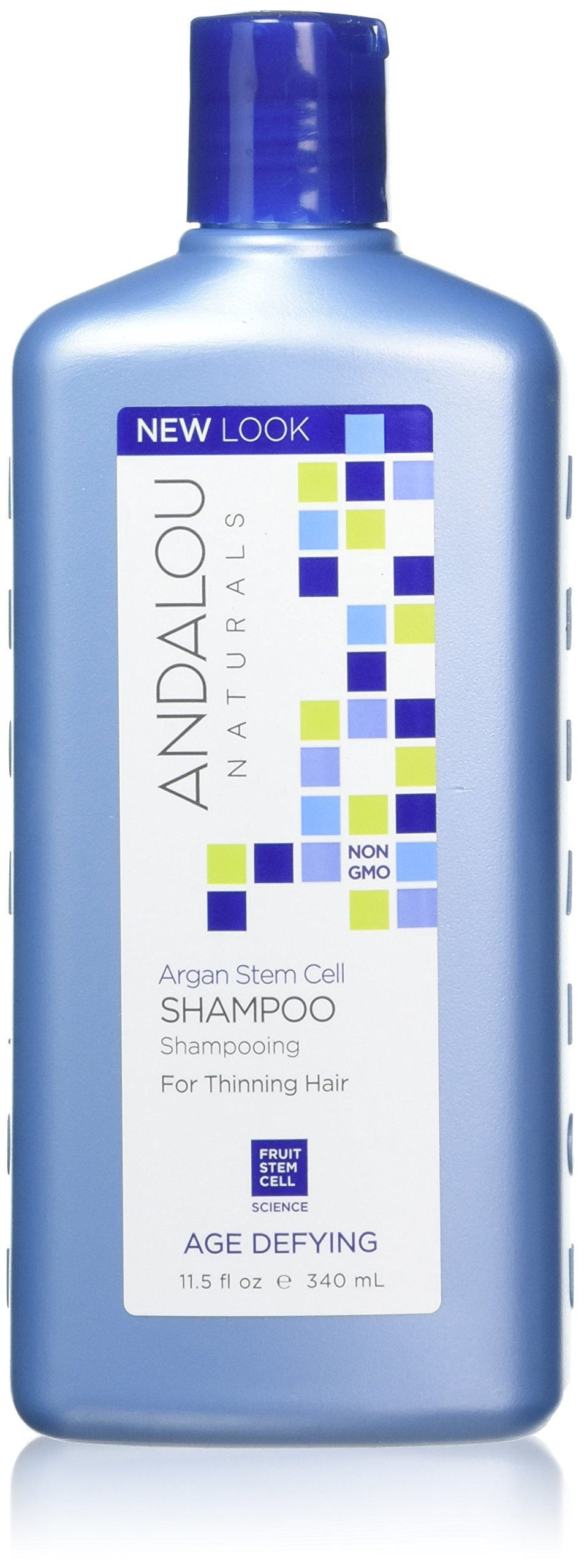 Andalou Naturals Argan Stem Cell Age Defying Shampoo, 11.5 Ounce, Thinning Hair Conditioner Helps Strengthen & Smooth Hair