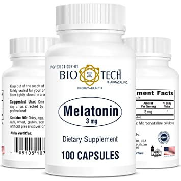 BioTech Pharmacal - Melatonin 3mg - 100 Count