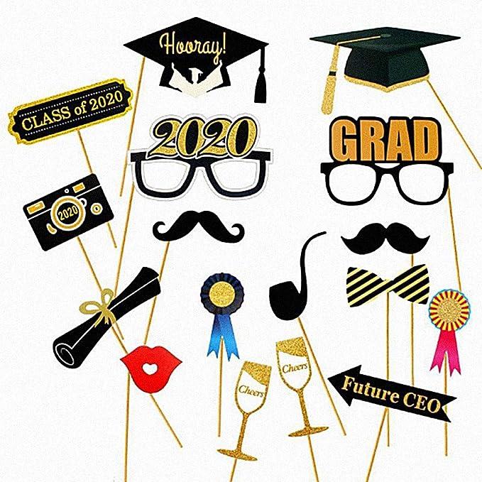 Yuccer 2020 Graduation Photo Booth Props, Graduación Cabina de ...