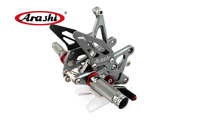 Arashi Rearsets Footrests FootPegs for KAWASAKI NINJA 1000 Z1000 Z1000SX 2014 2015 2016 Motorcycle Accessories Adjustable Foot Peg Rest NINJA1000 Z 1000 SX 1 Set Gray