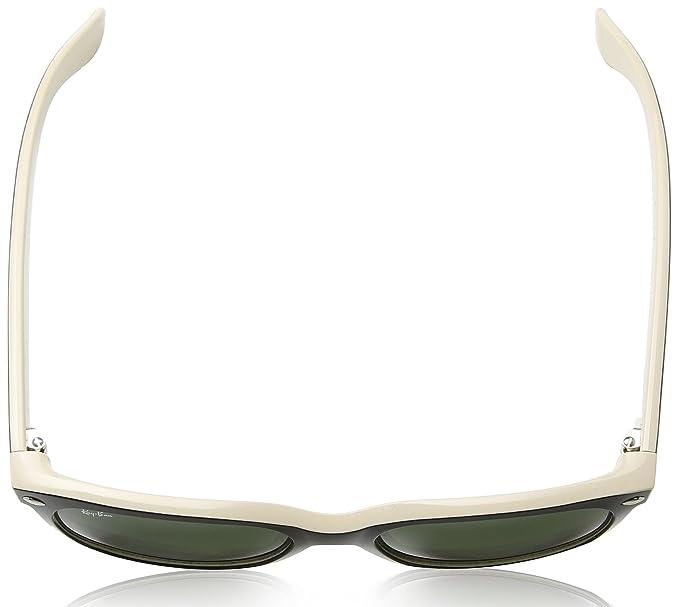 cc808eecc7 Amazon.com  Ray-Ban New Wayfarer RB2132 Sunglasses-875 Black On  Beige Crystal Green-55mm  Ray-Ban  Clothing