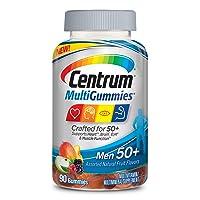 Centrum MultiGummies Gummy Multivitamin for Men 50 Plus, Multivitamin/Multimineral...