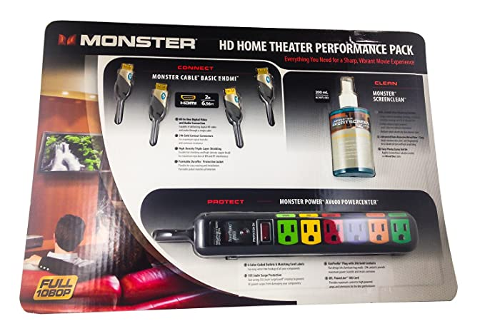 Amazon.com: Monster Cable MC BNDLK HDTV and Home Theater Performance ...