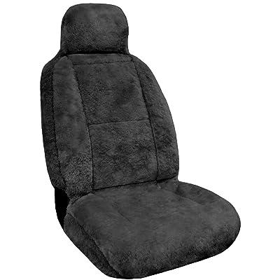 Eurow Luxury Sheepskin Seat Cover XL Design Comfortable Premium Pelt - Gray: Automotive