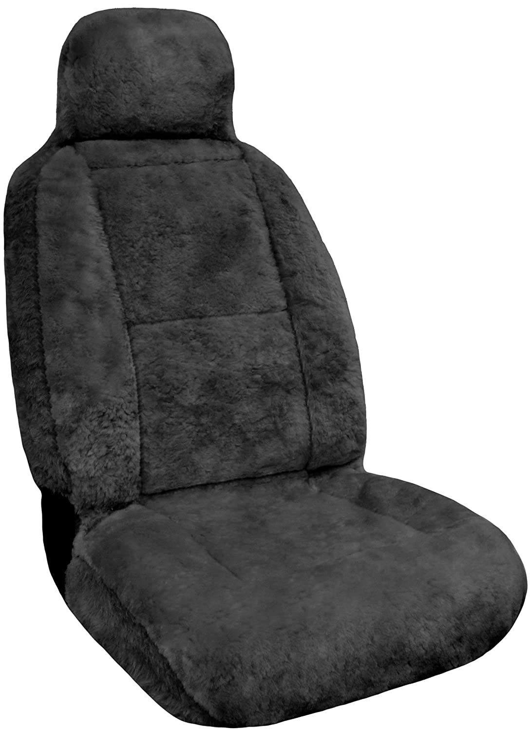 Eurow Luxury Sheepskin Seat Cover XL Design Comfortable Premium Pelt - Gray Eurow & O' Reilly Corp. 122705
