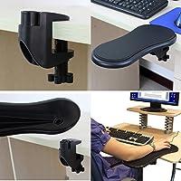 Xinxin Home & Office computadora Muñeca Apoyo alfombrilla de mouse Brazo del brazo Resto Apoyo computadora incorporables ajustable para cómodo trabajo con el computadora (Negro)