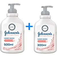 JOHNSON'S, Hand Wash Anti-Bacterial Almond Blossom, 500 + 300 ml (Pack of 2)