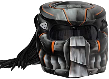 Casco para moto Predator x1 Iron con luz LED EXTRA LARGE Iron Airbrush