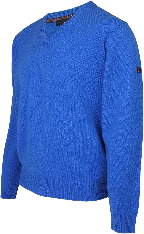 Colin Montgomerie Mens Mid Navy Blue V Neck Argyle Jumper