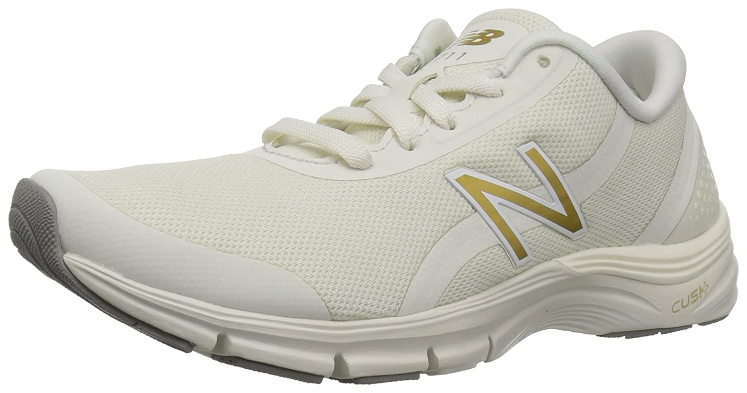 New Balance Women's 711v3 Cush + Cross Trainer B06XX9D5GT 9 B(M) US|White
