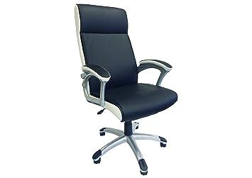Chaise de bureau fauteuil de bureau noir et blanc: amazon.fr