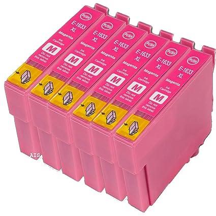 6 compatible e1633 Magenta Rojo cartuchos de tinta de repuesto ...