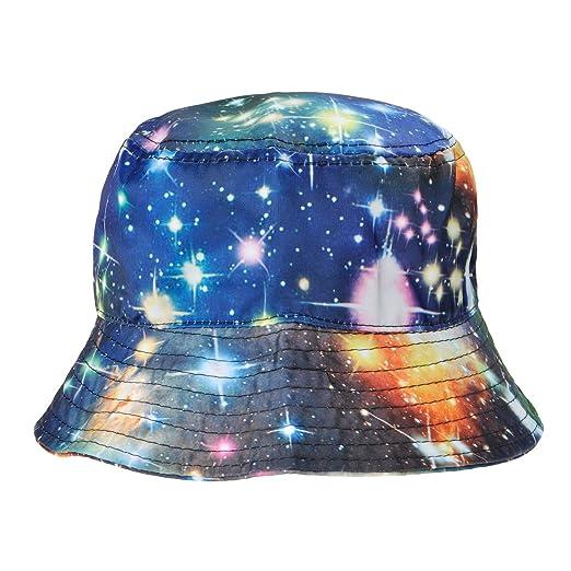 586cc294c67 ZLYC Unisex Galaxy Bucket Hat Summer Fisherman Cap Men Women