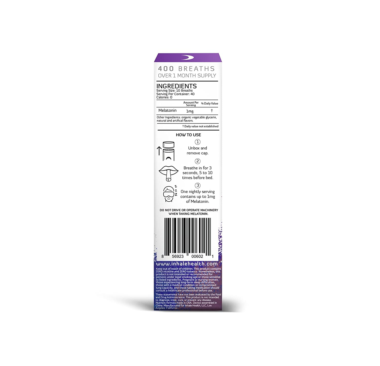 Amazon.com: SLEEP™ Lavender Dream - Melatonin Inhaler: Health & Personal Care