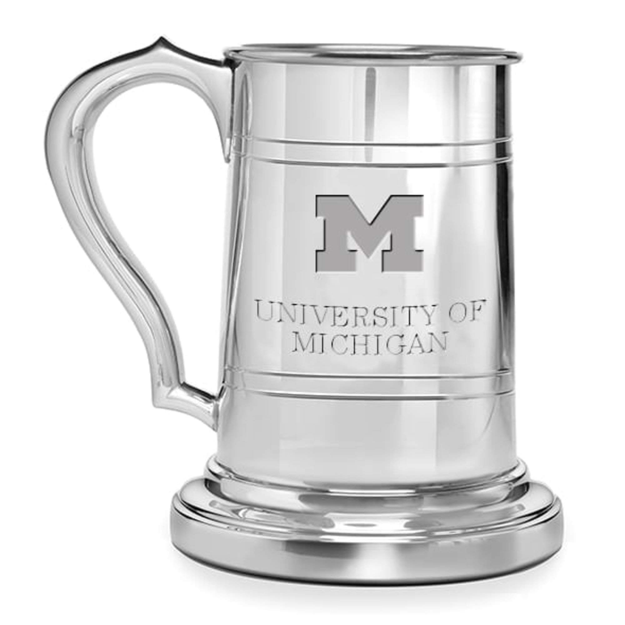 M. LA HART Michigan Pewter Stein
