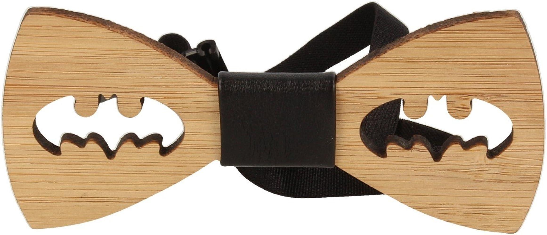 Snobbop Pajarita Woody Batman bambú madera cierre de gancho ...
