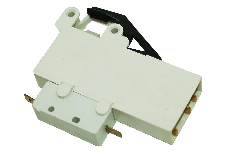 Interruptor de enclavamiento de la puerta NEWPOL lavadora.: Amazon ...