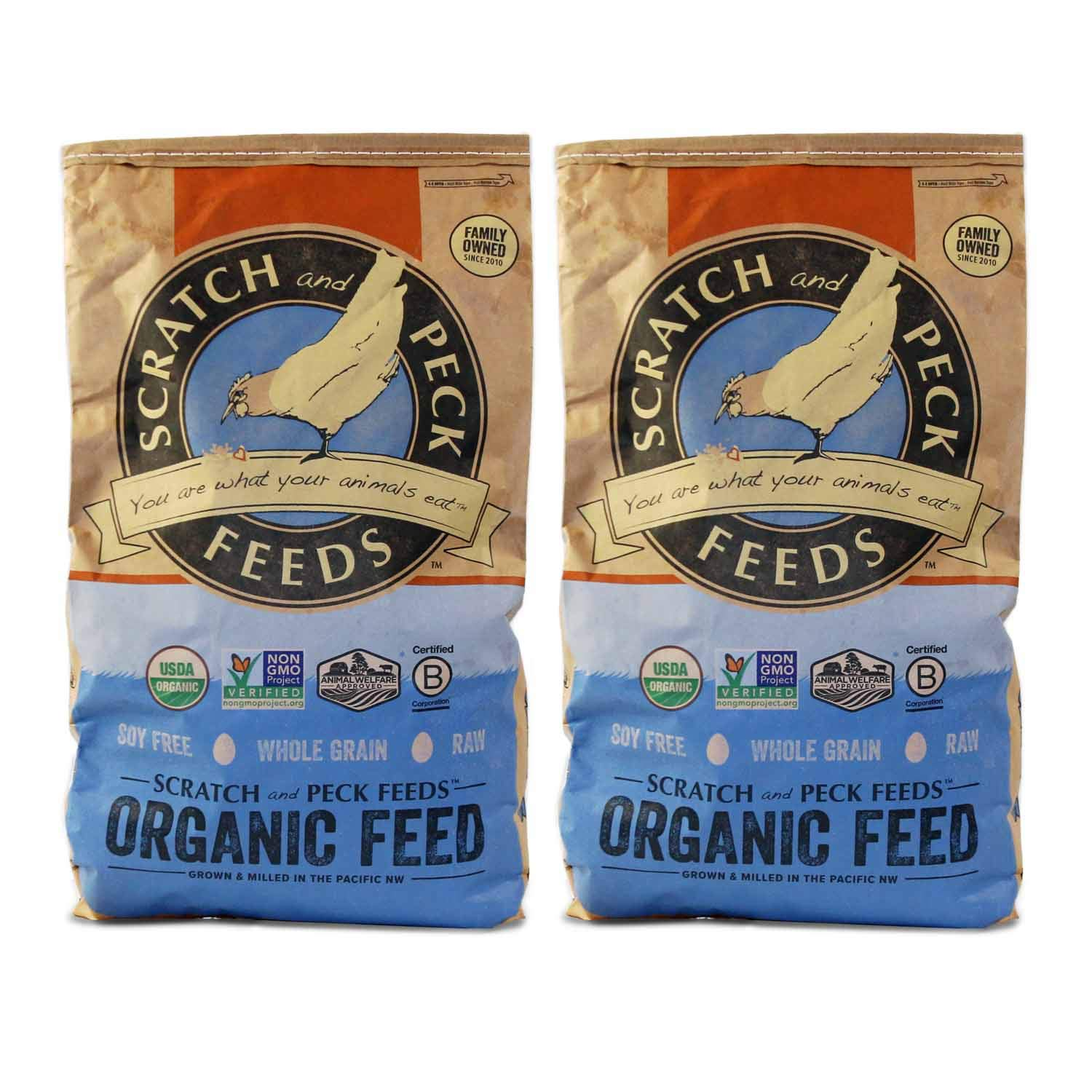Naturally Free Organic Layer Feed for Chickens and Ducks - 16% Protein - Non-GMO Project Verified, Soy Free and Corn Free - Scratch and Peck Feeds by SCRATCH AND PECK FEEDS YOU ARE WHAT YOUR ANIMALS EAT