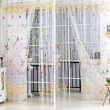 Schmetterling Muster Quaste String Tur Vorhang Fenster Zimmer