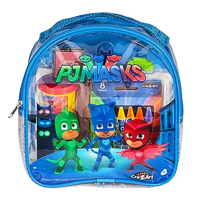 Amazon.com: PJ Masks Coloring and Activity Backpack Childrens-Drawing-Pads-and-Books,Colors may vary (Red/Blue) (Premium pack): Toys & Games