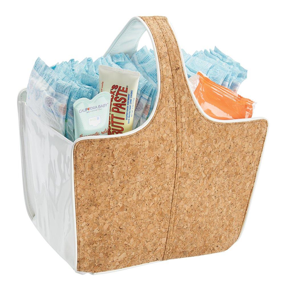 mDesign Cesta de almacenaje - Perfecta cesta organizadora para baño ...