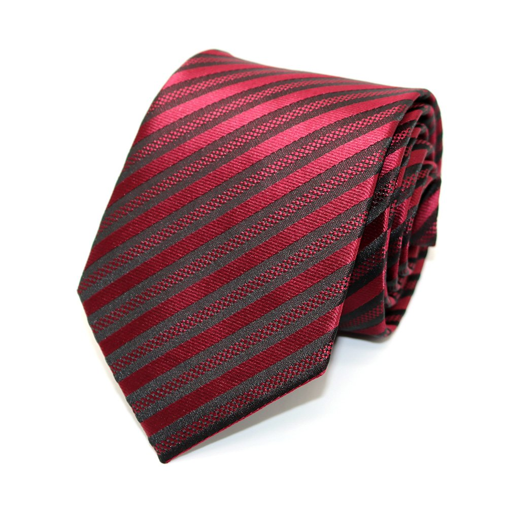 Alina Mens Ties Classic Stripe Tie Jacquard Woven Silk Tie Formal Party Suit Necktie