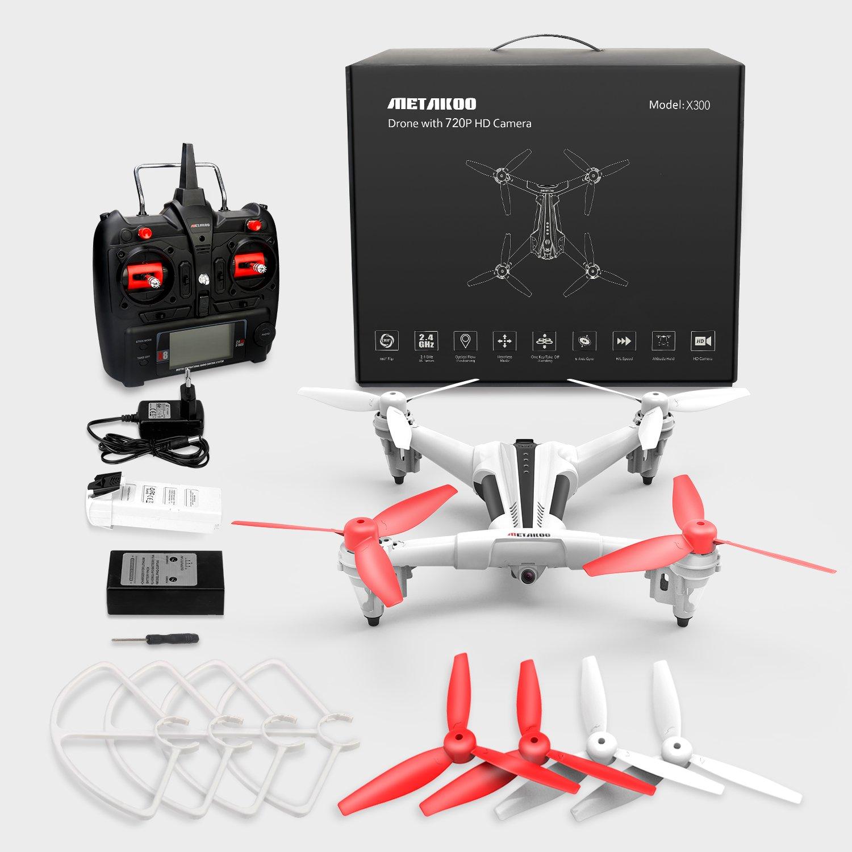 Metakoo Drone con Cámara Cuadricóptero con control remoto RC ...