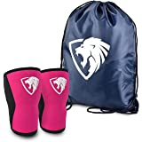 Knee Sleeves ( 1 Pair w/ bag ) Best Orthopedic Knee Support & Pain Compression Brace for Squats, WOD, Weightlifting, Powerlifting – Impulse Sportz 5mm and 7mm Strong Knee Sleeves