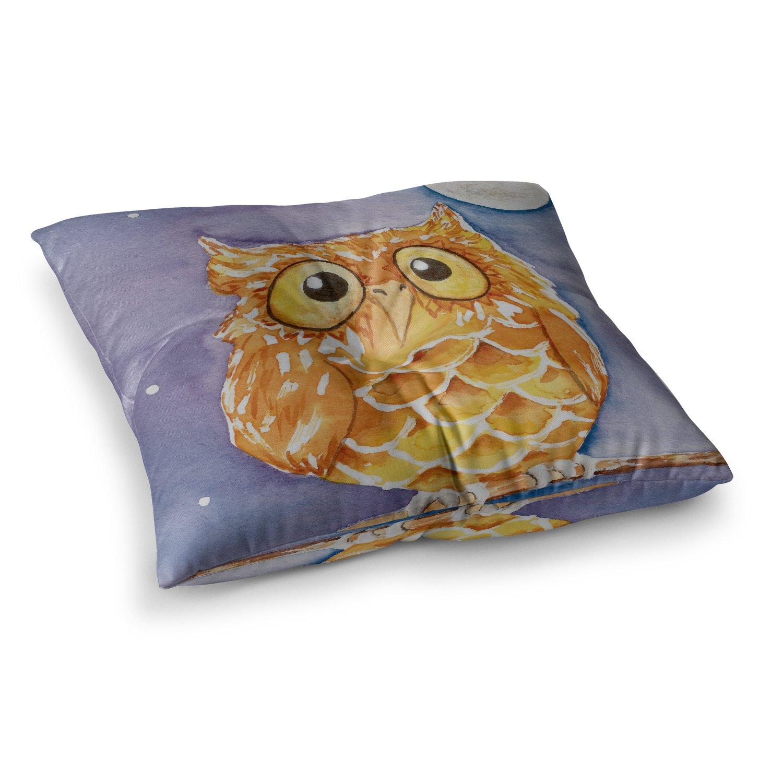 Kess InHouse Padgett Mason Little Hoot 26 x 26 Square Floor Pillow