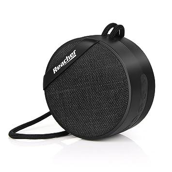 Reacher Mini Altavoz Bluetooth portátil Radio FM, Reproductor Mp3, Tarjeta SD Micro TF, Entrada AUX de 3.5mm, Manos Libres, Diseño Elegante para Hogar ...