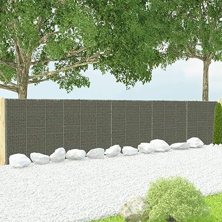 Festnight Muro de Gaviones Decorativos para Jardin con Cubiertas Acero Galvanizado 900x50x200 cm: Amazon.es: Hogar
