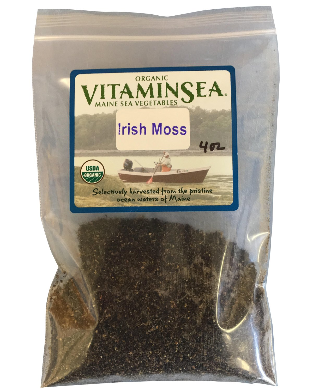 VitaminSea Organic Irish Sea Moss - 4 oz Flakes Maine Coast Seaweed - USDA & Vegan Certified - Kosher - For Keto - Paleo or Dr. Sebi Diets - Sun Dried - Raw Wild Atlantic Ocean Sea Vegetables (IMF4)
