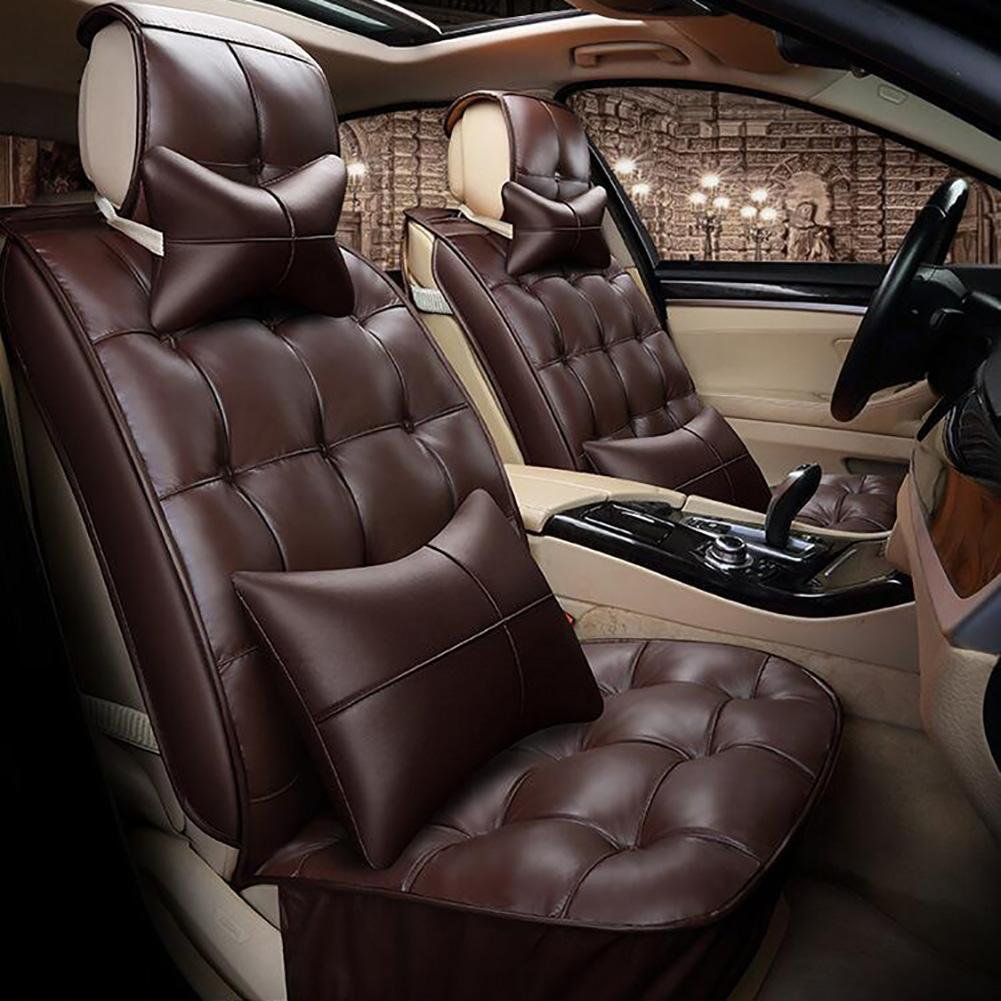 Auto Accessories New 3D Full of Winter Leather Car Cushion Winter Warm Feathers Cushion, Brown, B