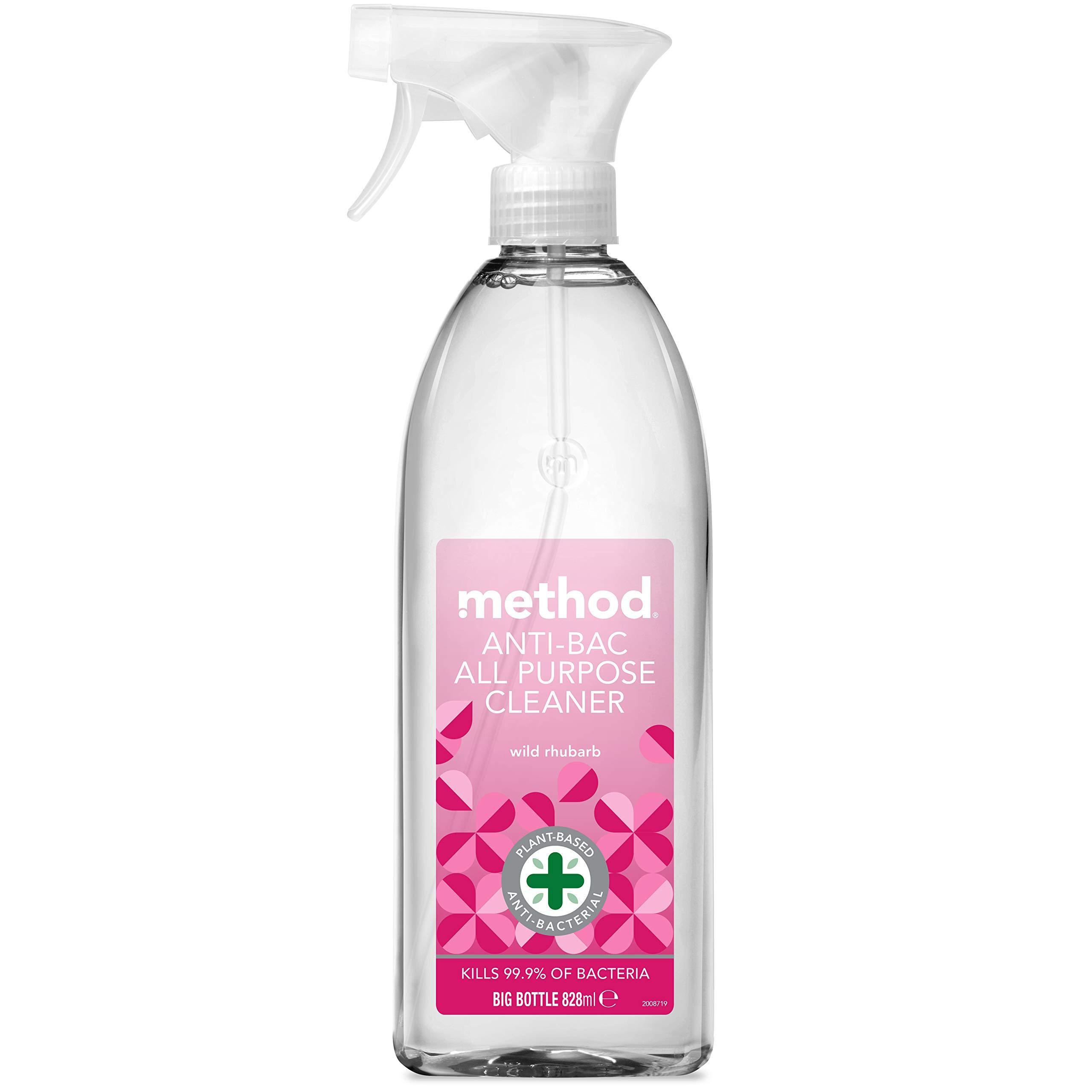 Method Antibacterial Spray, All Purpose Cleaner, Wild Rhubarb, 828 ml