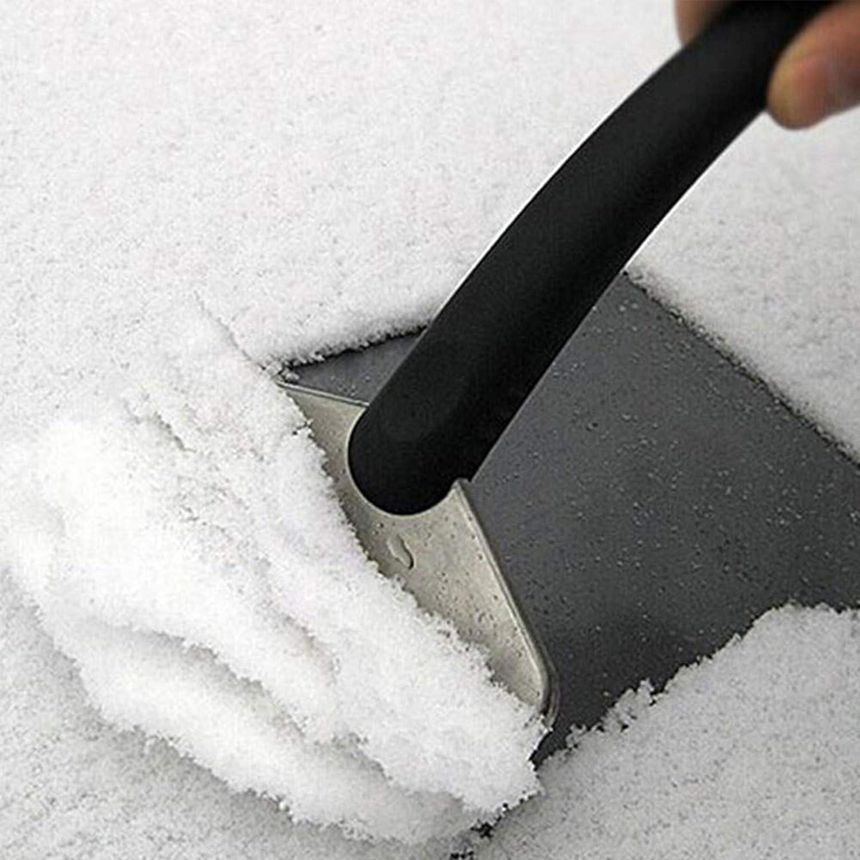Herramienta de Limpieza cami/ón esp/átula de Nieve 3pcs Rascadores de Hielo,Pala de Hielo para Coche limpiaparabrisas para el Coche esp/átula de Hielo y Parabrisas Acero Inoxidable