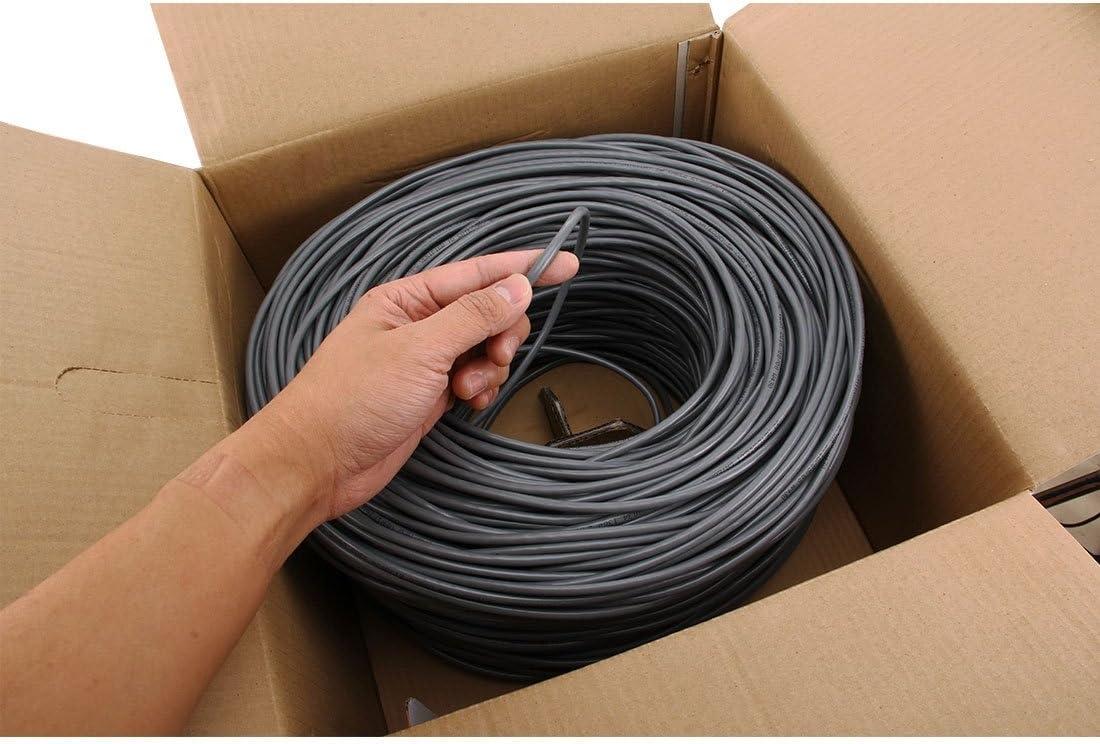 Color : Color1 Length: 305M Copper-clad Aluminium Copper Clad Steel Diameter: 0.38mm-0.4mm CCS CAT5E Data Cable HUIFANGBU LAN Cable CCA