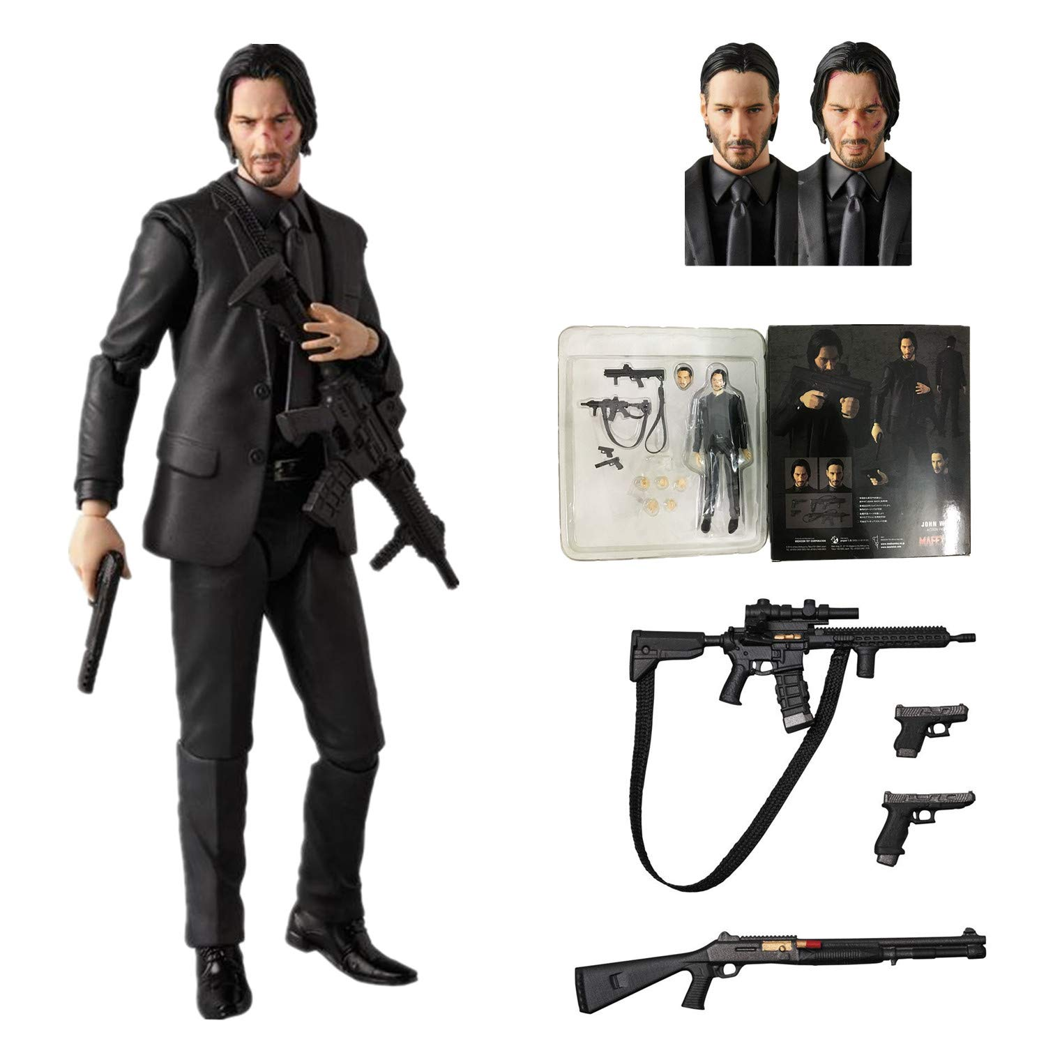 BODAN John Wick Action Figure / Statues Ultimate Horror Collection Gifts - PVC 6'' Scale