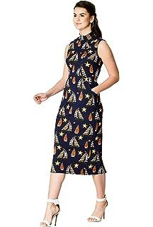 822fead8bf eShakti Women's Ruffle Ditsy Floral Print wrap Maxi Dress UK Size ...