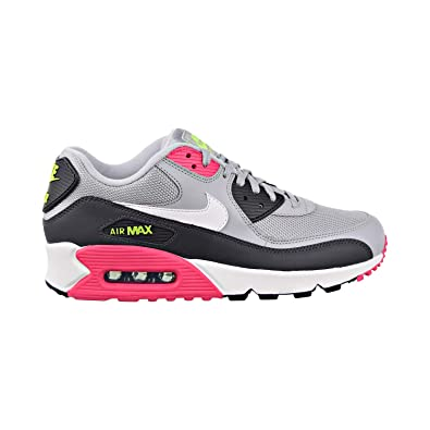 new concept 9ab49 3a421 Nike Men s Air Max 90 Wolf Grey White Rush Pink Volt Leather Casual