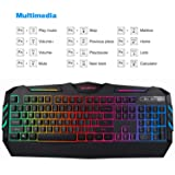 TEC.Bean Rainbow LED Backlit Wired Office Gaming