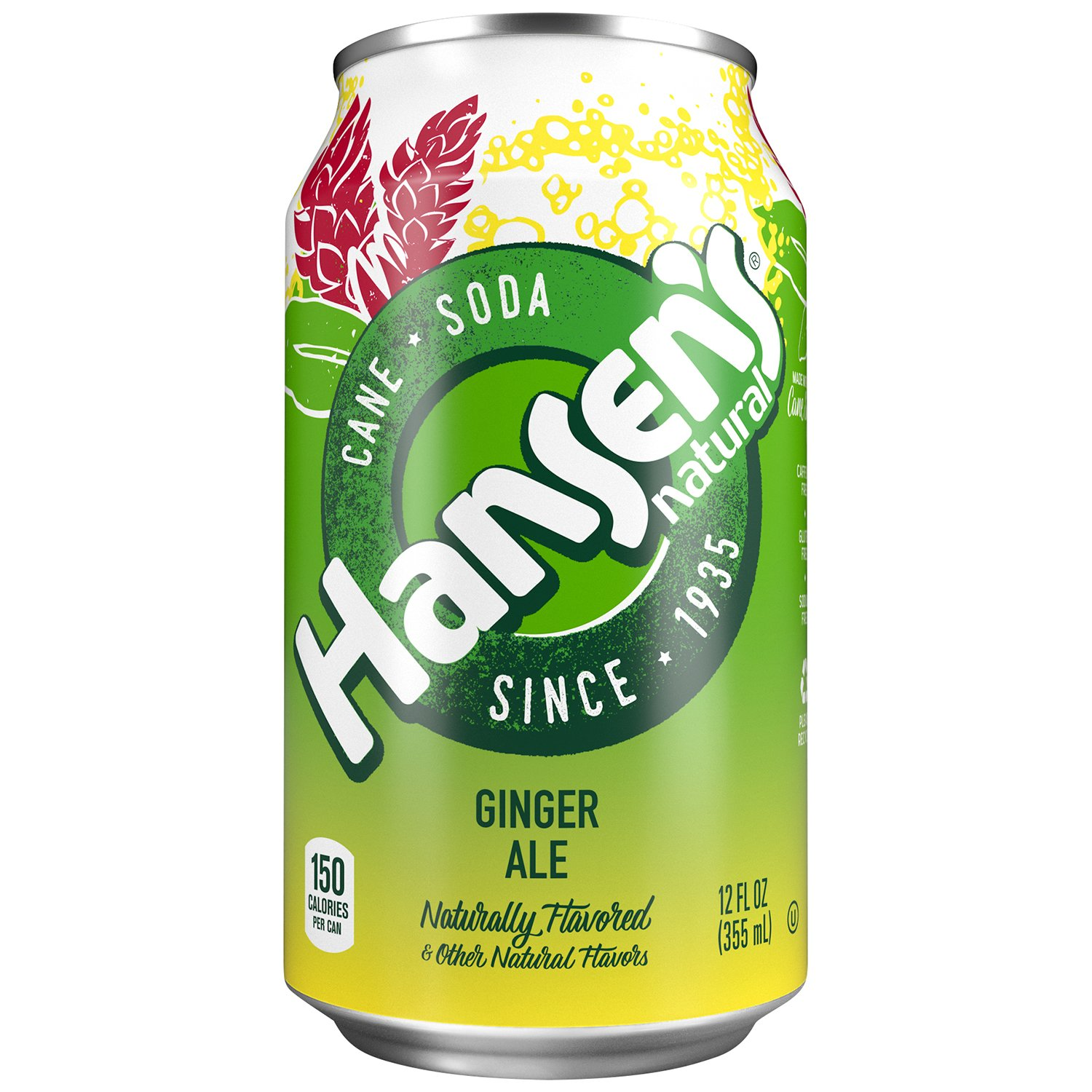 Hansen's Cane Soda, Ginger Ale, 12 Ounce (Pack of 24)