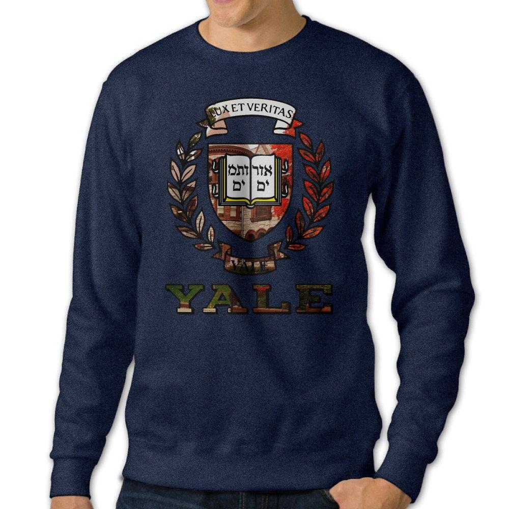 AuSin Men's Crewneck Sweatshirts Yale University Navy