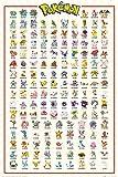 Pokemon - Kanto 151 - Anime Spiel Poster - Größe 61x91,5 cm + 1 Ü-Poster der Grösse 61x91,5cm