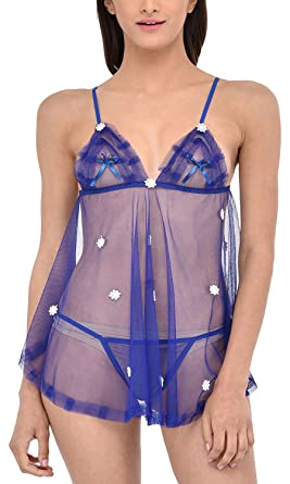 b94055a7e Caratcube Women s Baby Doll (CTC - BD - 22B Blue Free Size)  Amazon ...