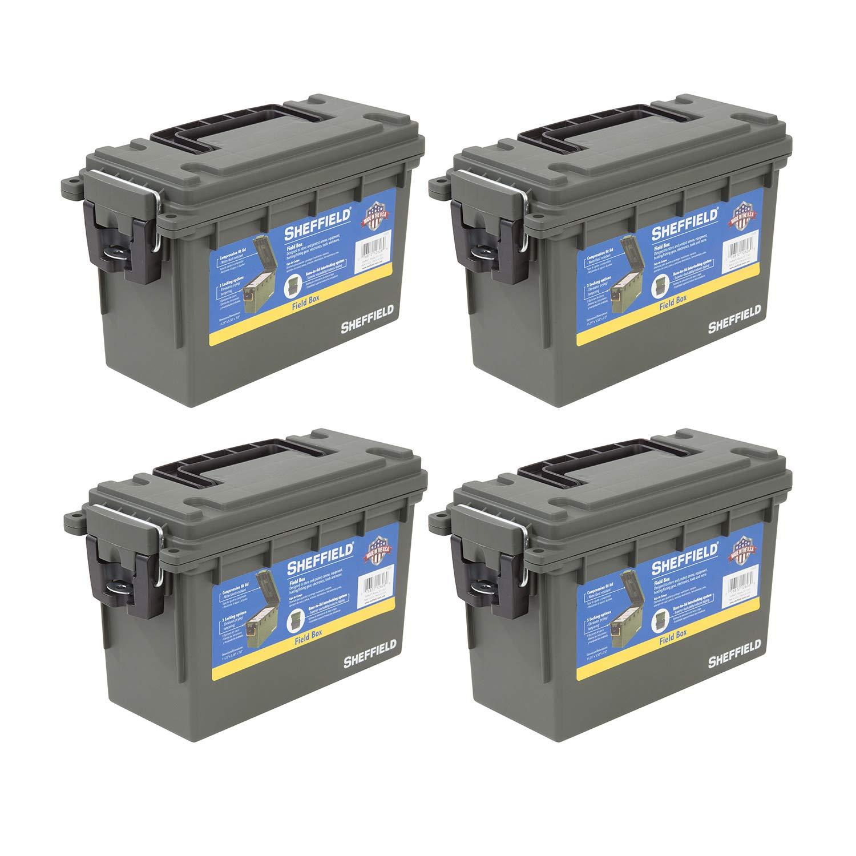 Sheffield 12626 Field Box- Olive Drab Green 4 Pack