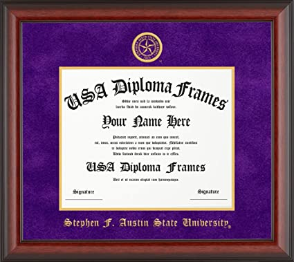 Amazon.com - Stephen F. Austin University Diploma Frame - Cherry ...