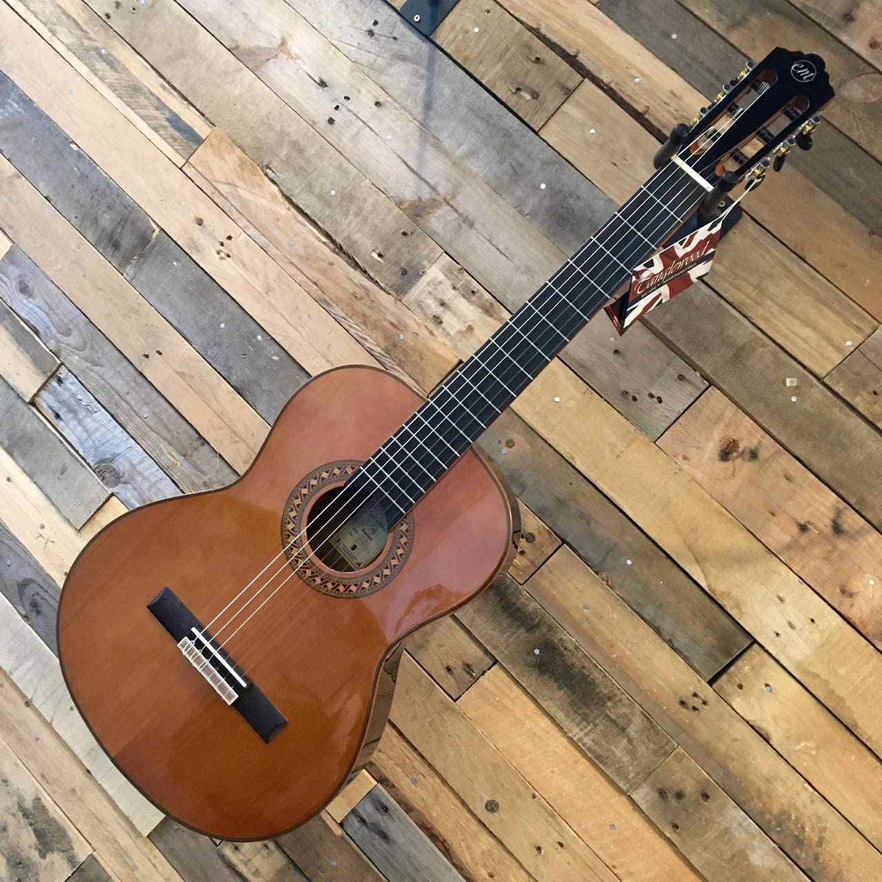 Tanglewood Guitarra clásica dominar EM-D3 con tapa de cedro sólido y bolsa de concierto