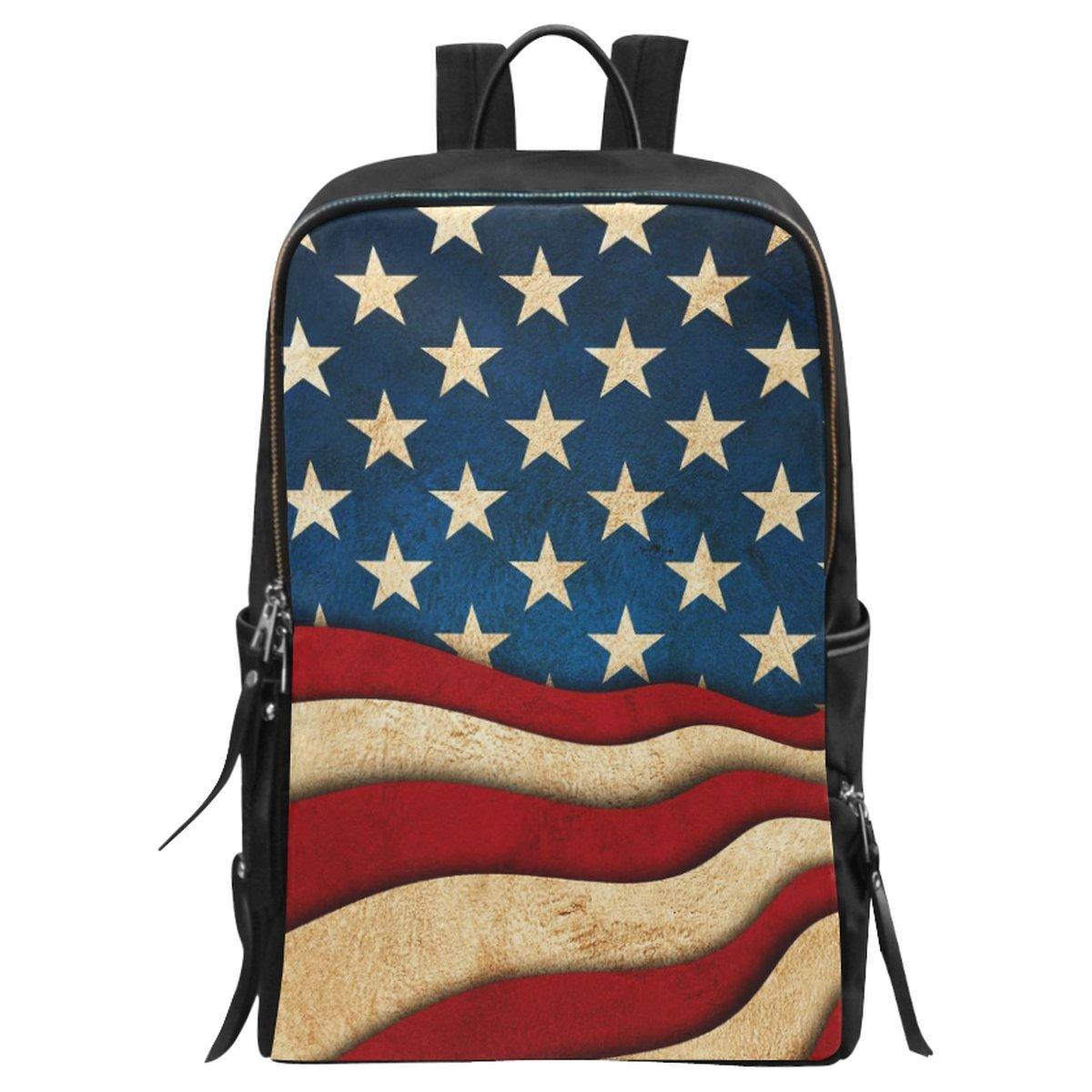 296b2b5b9c InterestPrint American flag School Casual Travel Backpack School Bag Travel  Daypack lovely