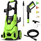 [Upgraded Version] Paxcess 3000PSI Electric Pressure Washer 2.5GPM Power Washer High Pressure Cleaner with 4 Nozzles Foam Can
